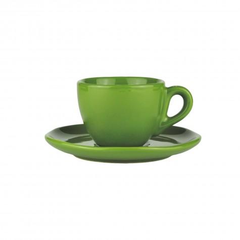 Set da caffè in ceramica verde muschio