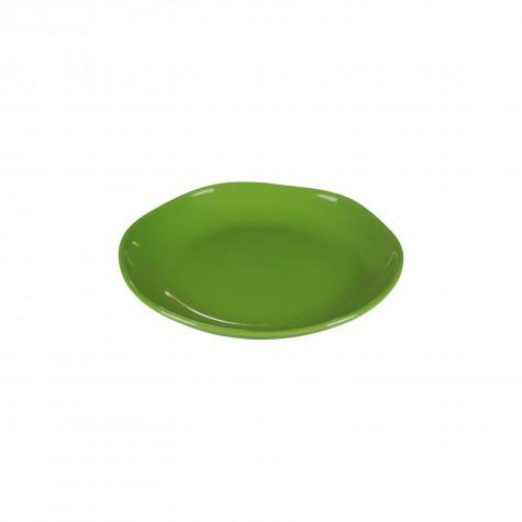 Piatto frutta in ceramica verde muschio