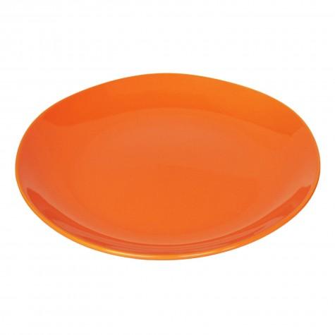 Piatto piano in ceramica arancione