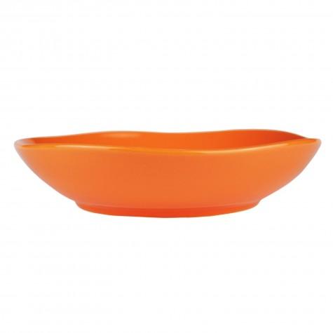 Piatto fondo in ceramica arancione
