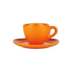 Set da caffè in ceramica arancione