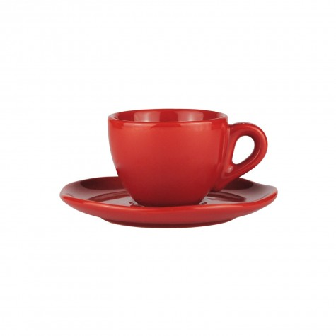Set da caffè in ceramica rossa