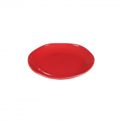 Piatto frutta in ceramica rossa