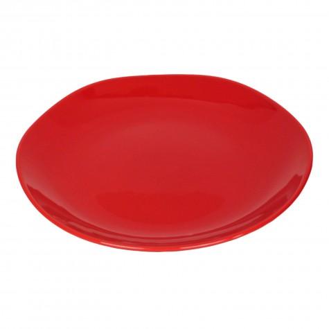 Piatto piano in ceramica rossa