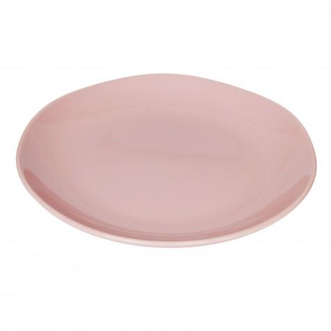 Piatto piano in ceramica rosa cipria