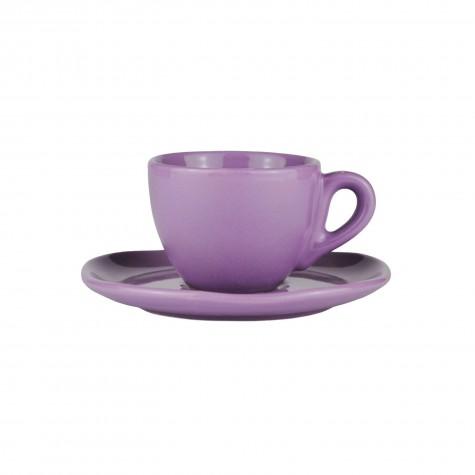 Set da caffè in ceramica color lavanda