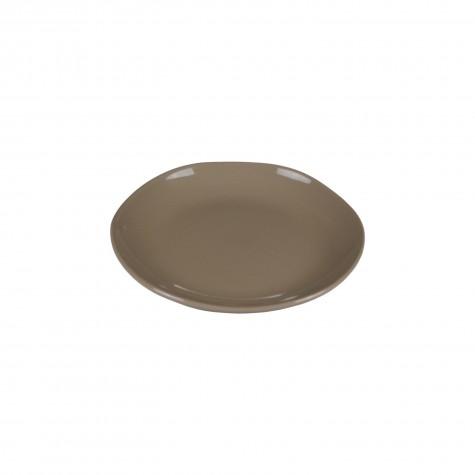 Piatto frutta in ceramica taupe
