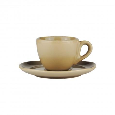 Set da caffè in ceramica beige tortora