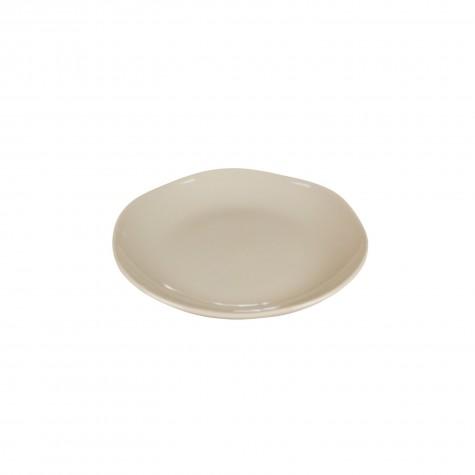 Piatto frutta in ceramica beige tortora