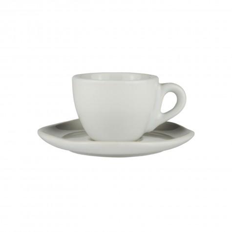 Set da caffè in ceramica bianca