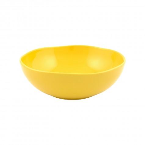 Insalatiera in ceramica gialla