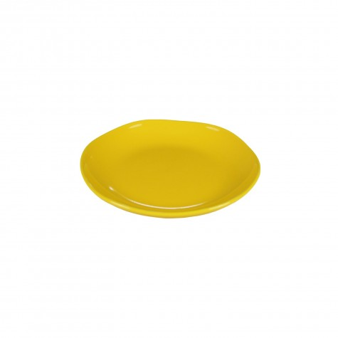 Piatto frutta in ceramica gialla