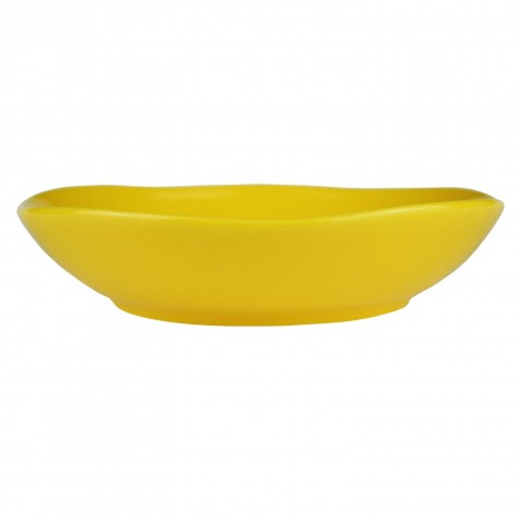 Piatto fondo in ceramica gialla