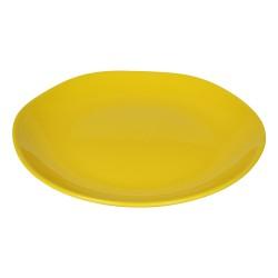 Piatto piano in ceramica gialla