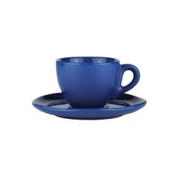 Set da caffè in ceramica blu indigo