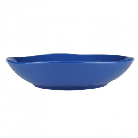 Piatto fondo in ceramica blu indigo