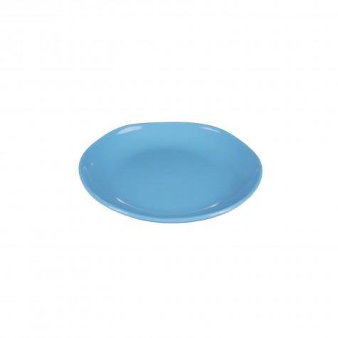 Piatto frutta in ceramica azzurro