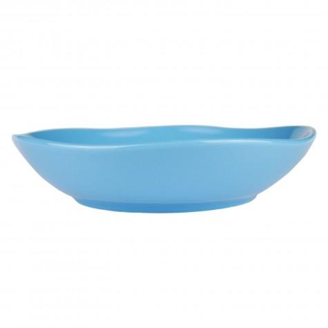 Piatto fondo in ceramica azzurro
