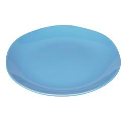 Piatto piano in ceramica azzurro