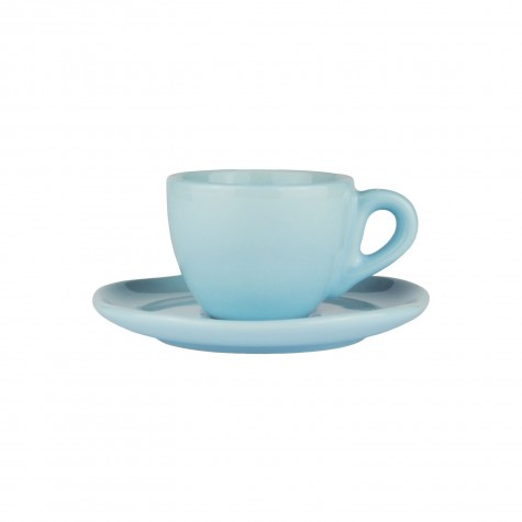 Set da caffè in ceramica azzurro chiaro