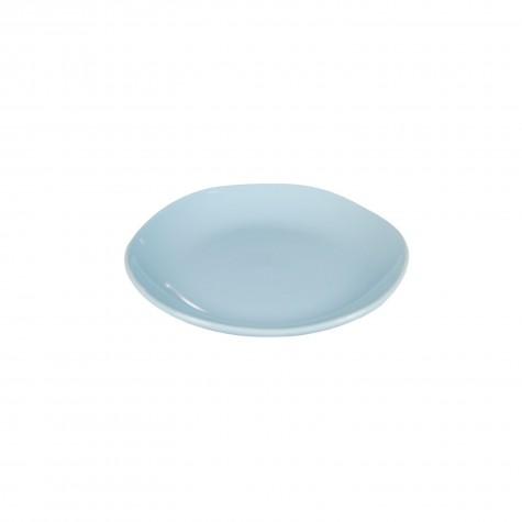 Piatto frutta in ceramica azzurro chiaro