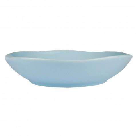 Piatto fondo in ceramica azzurro chiaro