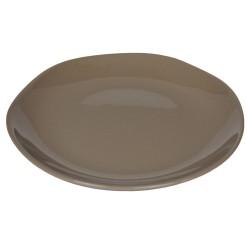 Piatto da portata in ceramica taupe