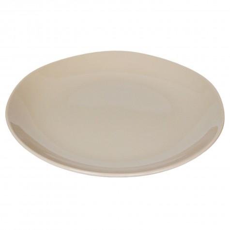 Piatto da portata in ceramica beige tortora