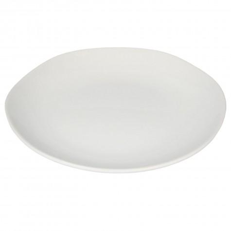 Piatto da portata in ceramica bianca