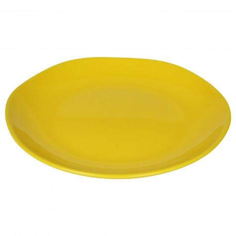 Piatto da portata in ceramica gialla