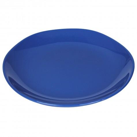 Piatto da portata in ceramica blu indigo
