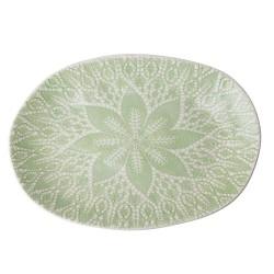 Piatto da portata in ceramica con decorazione in rilievo