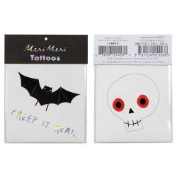 Tatuaggi pipistrello e teschio