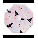 Piattini di carta con icone di Halloween