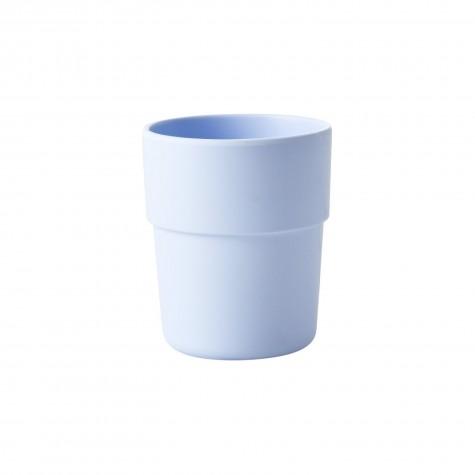 Bicchiere azzurro pastello in fibra naturale e melamina