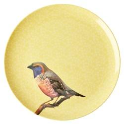 Piatto piano giallo fantasia uccellino