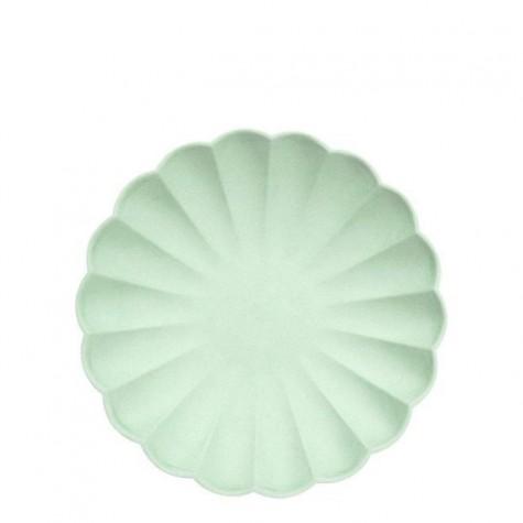 Piattini eco-friendly color menta