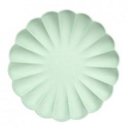 Piatti eco-friendly color menta