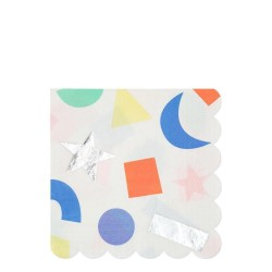 Tovaglioli di carta con forme colorate