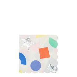 Tovagliolini di carta con forme colorate