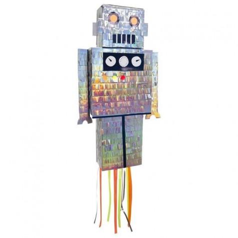 Pignatta a forma di robot scintillante