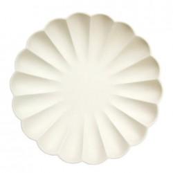Piatti eco-friendly color crema