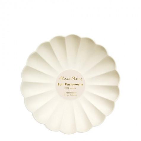 Piattini eco-friendly color crema