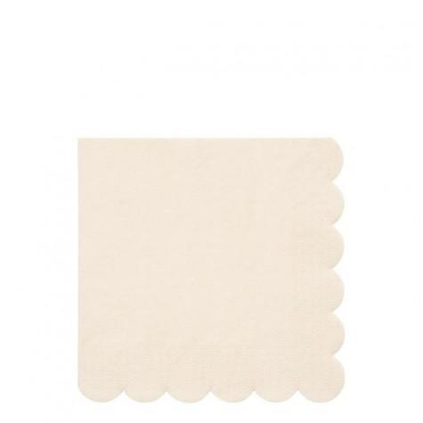 Tovaglioli di carta color crema