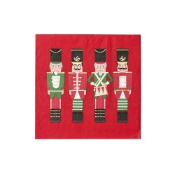 Tovagliolini di carta rossi de Lo Schiaccianoci