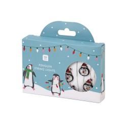 Luci a led natalizie a forma di pinguino