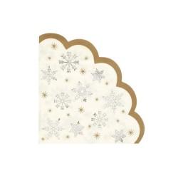 Tovaglioli di carta fantasia fiocchi di neve