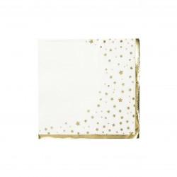 Tovaglioli di carta con stelline e bordo dorati