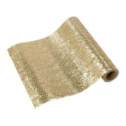 Copritavolo glitterato oro