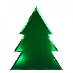 Piatti di carta natalizi a forma di albero